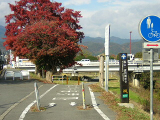 桂川自転車道、松尾付近