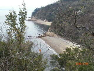 大島の南海岸沿いはアップダウンの繰り返し