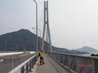 多々羅大橋を渡って生口島へ